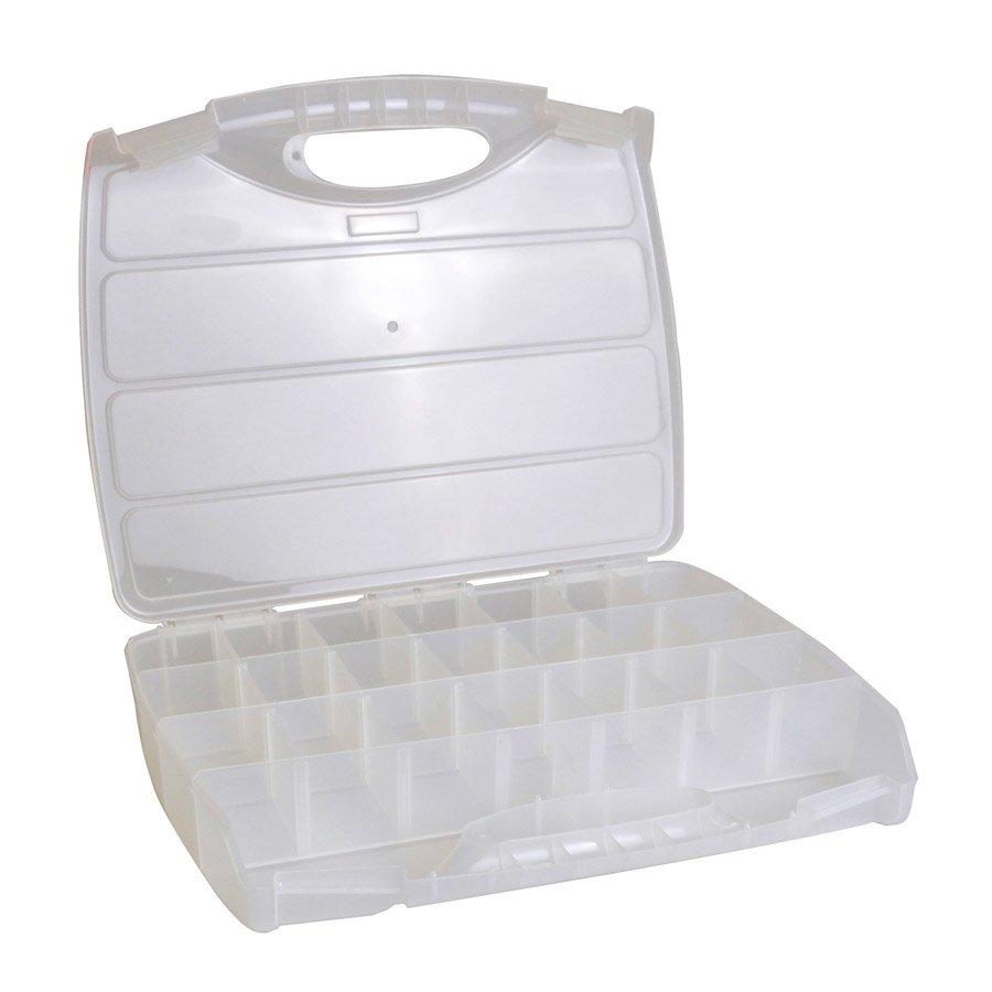 Boîte de rangement avec poignée - 37,8 x 31 x 6 cm