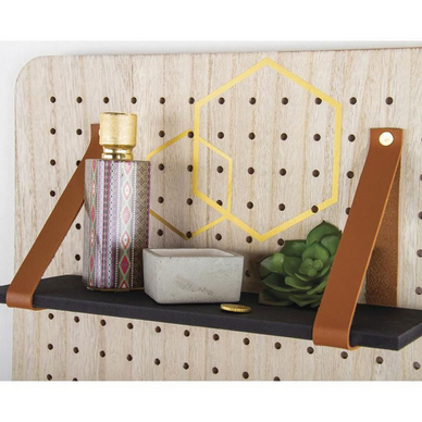 Bande en cuir synthétique Pin & Peg 138 x 2 cm - brun