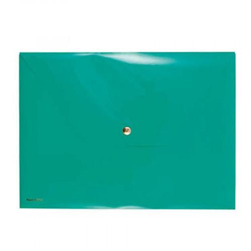 Pochette avec bouton pression - Vert - 33 x 24 cm