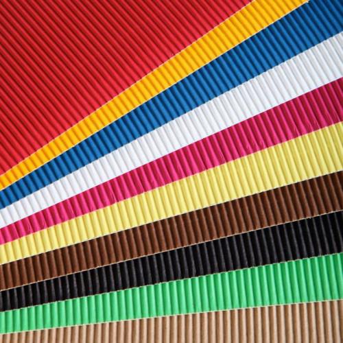 Carton ondulé - 50 x 35 cm - 15 couleurs