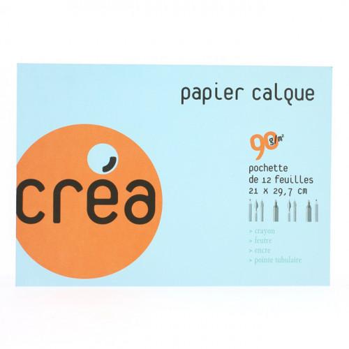 Papier calque 90g A4 pochette de 12 feuilles