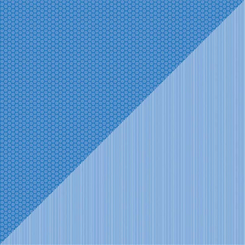 Daisy-Stripe - Papier Blue Jeans