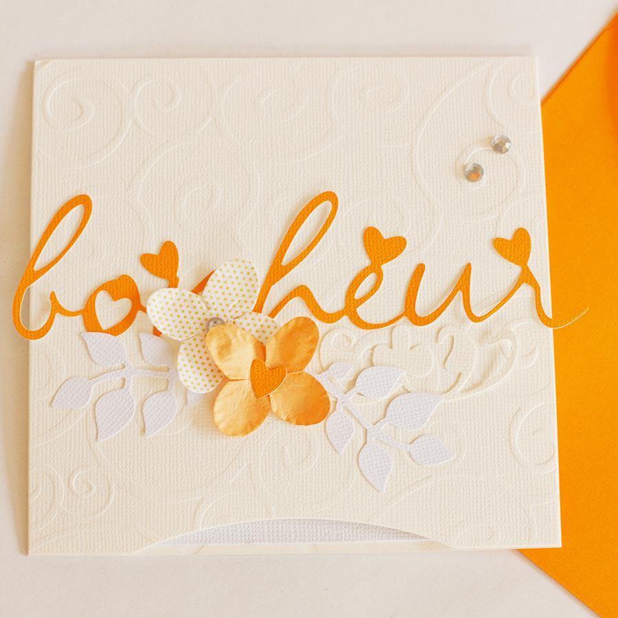 Papier uni - Orange