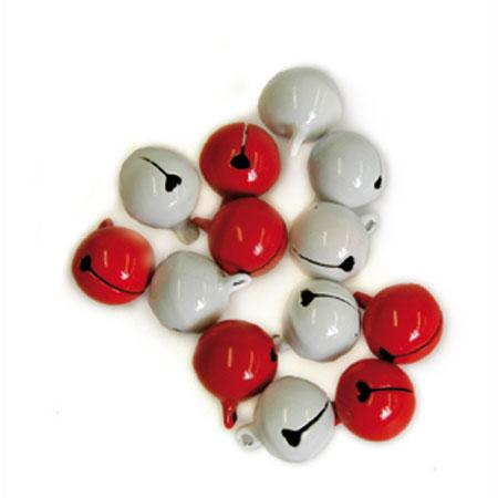 Grelots rouges & blancs - 1,8 cm