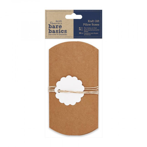 Bare Basics - Pillow Boxes - Kraft - 3 pces