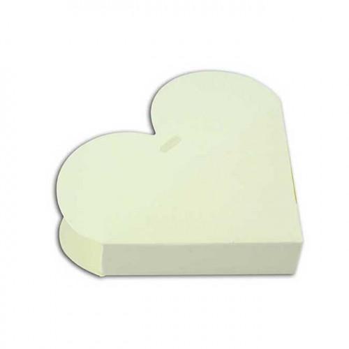 Boîtes Cœur en carton - à monter - ivoire - 6 pcs