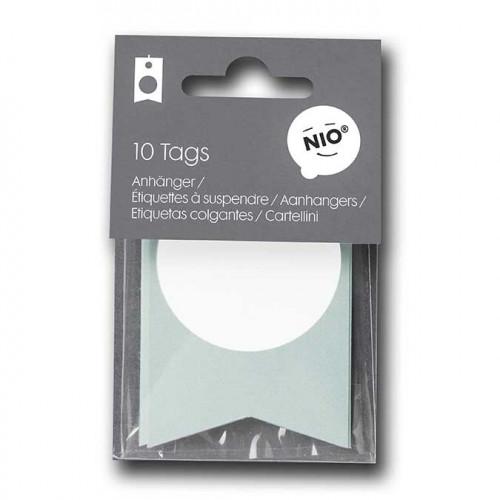 NIO mint - 10 étiquettes - 8 x 5 cm