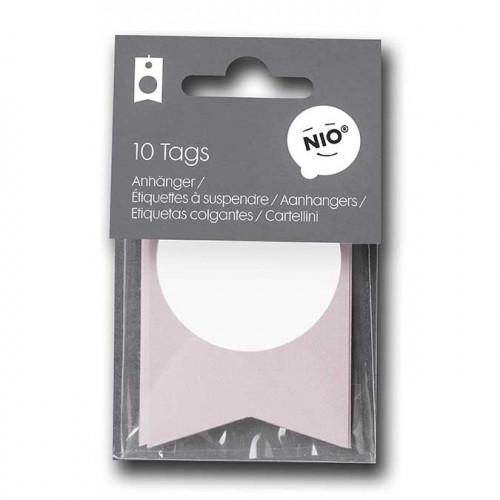 NIO rose - 10 étiquettes - 8 x 5 cm