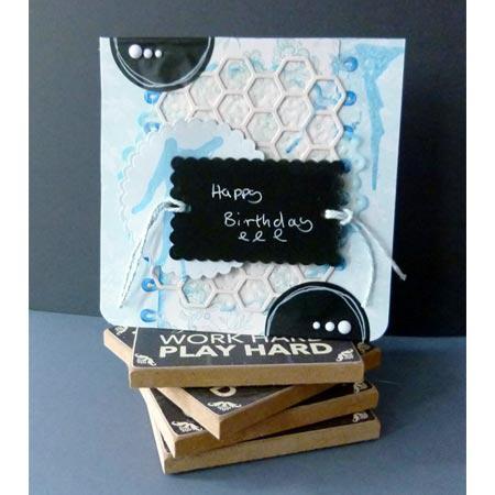 Chalk Craft - Etiquettes Tableau Noir & Craie - 12 pces