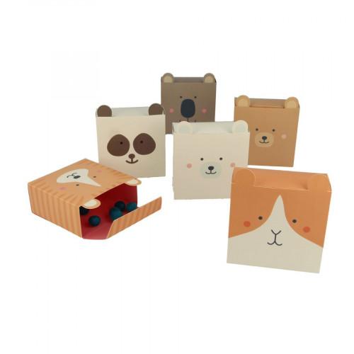 Adorable - Boîtes à monter - Animaux - 6 pcs