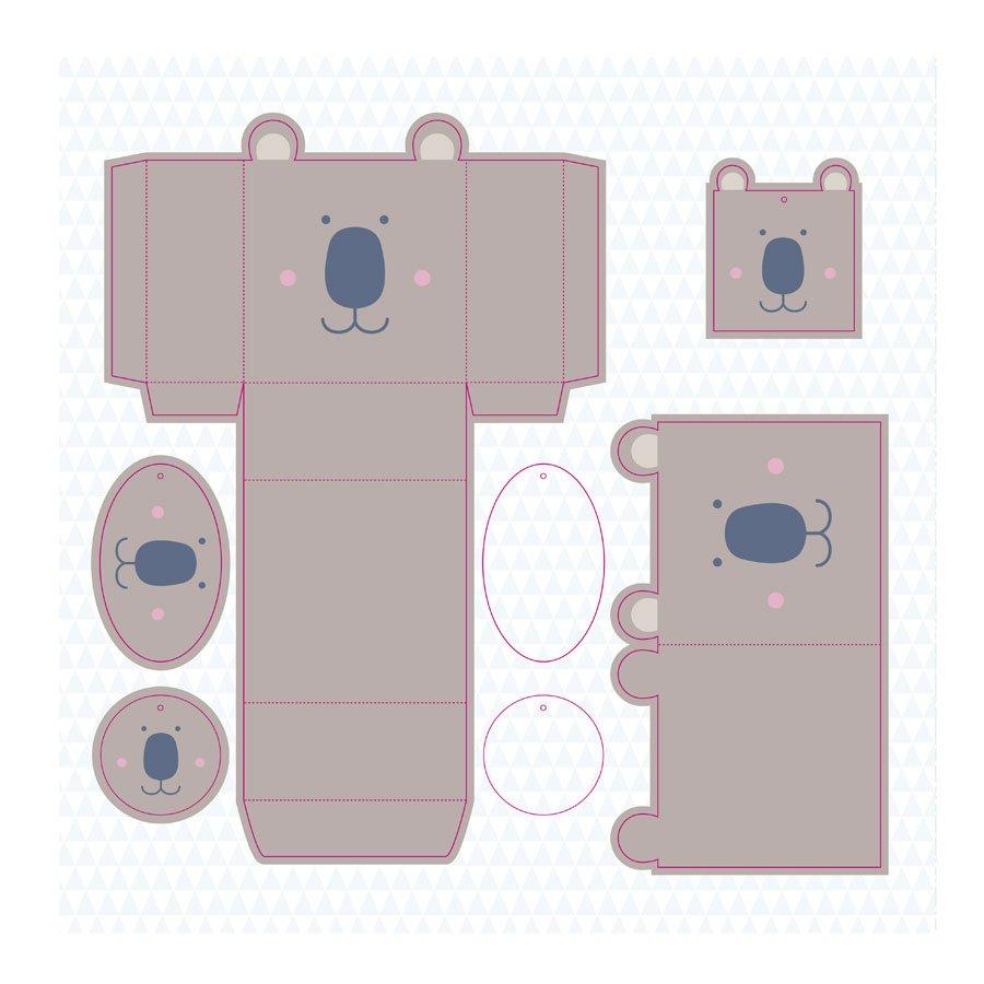 Boîtes à monter - Animaux - 6 pcs