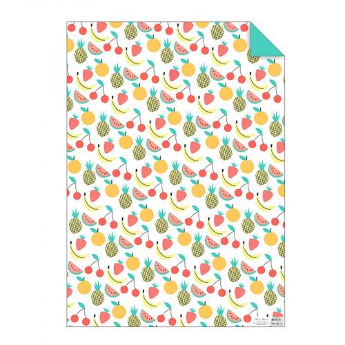 Papier cadeau - Fruits - 50 x 70 cm