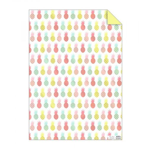 Papier cadeau - Ananas - 50 x 70 cm