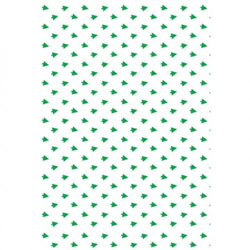Papier de soie - 4 feuilles - Sapins verts - 50 x 70 cm