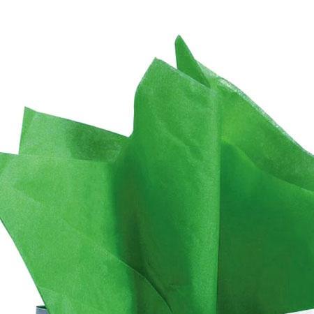 Papier de soie 18g/m² x8f. - Vert pré - 50 x 75 cm