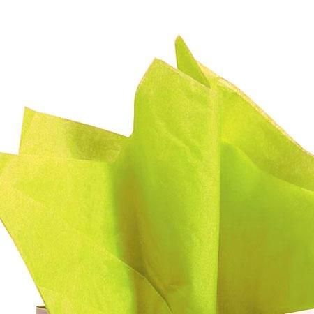 Papier de soie 18g/m² x8f. - Vert pomme - 50 x 75 cm