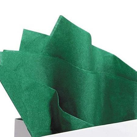 Papier de soie 18g/m² x8f. - Vert Empire - 50 x 75 cm