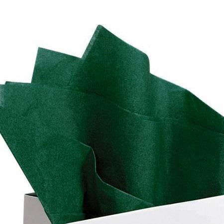 Papier de soie 18g/m² x8f. - Vert bouteille - 50 x 75 cm