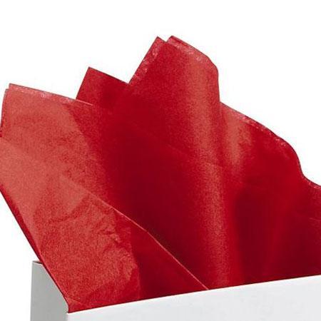 Papier de soie 18g/m² x8f. - Rouge - 50 x 75 cm