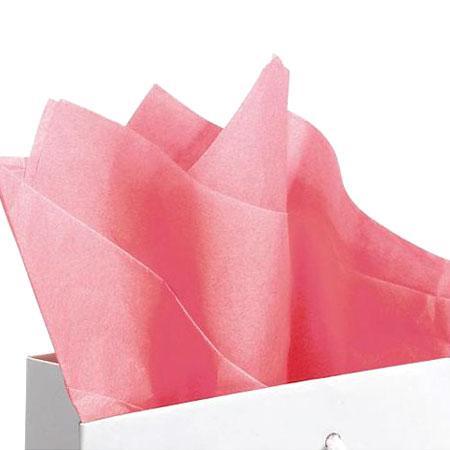 Papier de soie 18g/m² x8f. - Rose - 50 x 75 cm