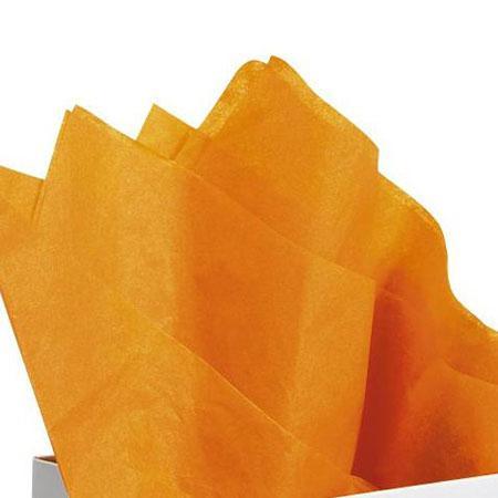 Papier de soie 18g/m² x8f. - Orange - 50 x 75 cm