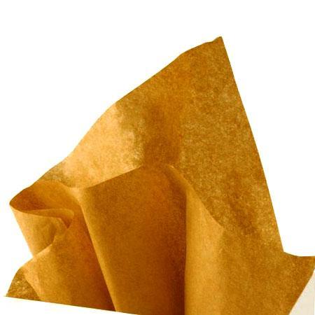 Papier de soie 18g/m² x8f. - Or - 50 x 75 cm