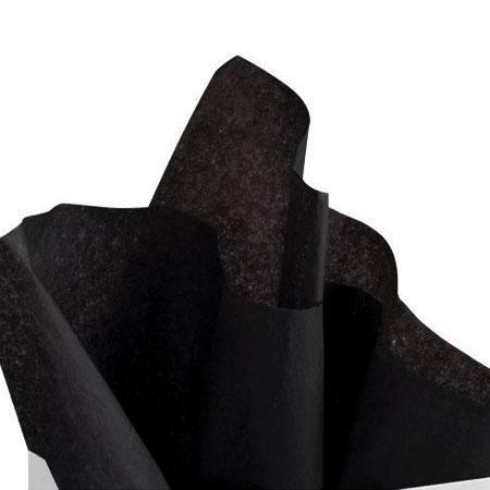 Papier de soie 18g/m² x8f. - Noir - 50 x 75 cm