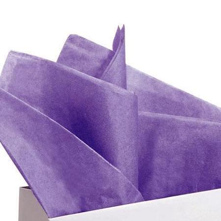 Papier de soie 18g/m² x8f. - Mauve - 50 x 75 cm