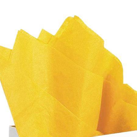 Papier de soie 18g/m² x8f. - Jaune citron - 50 x 75 cm