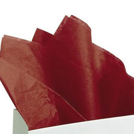Papier de soie 18g/m² x8f. - Bordeaux - 50 x 75 cm