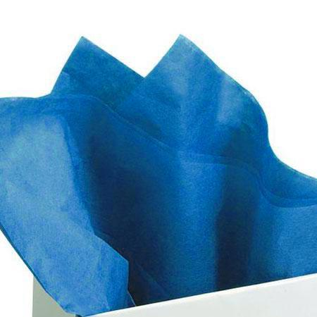 Papier de soie 18g/m² x8f. - Bleu - 50 x 75 cm