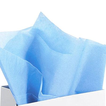 Papier de soie 18g/m² x8f. - Bleu ciel - 50 x 75 cm