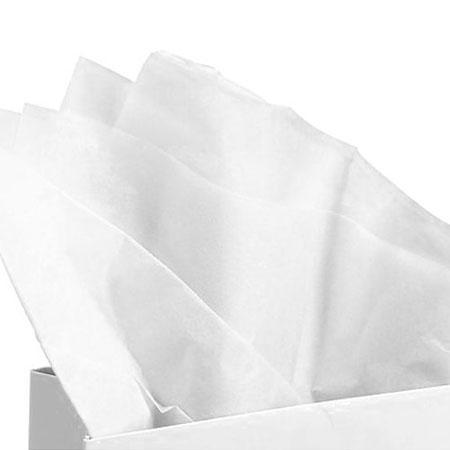 Papier de soie 18g/m² x8f. - Blanc - 50 x 75 cm