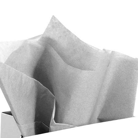 Papier de soie 18g/m² x8f. - Argent - 50 x 75 cm
