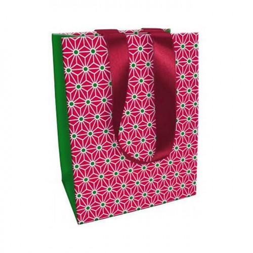 Sac moyen Noël Tradi Chic - Géométrique - 19 x 25 x 12 cm