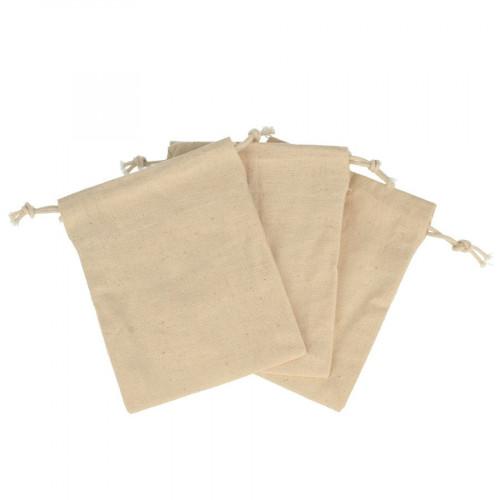Sachet en toile avec cordon - 9 x 11,5 cm - 3 pcs