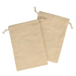 Sachet en toile avec cordon - 10 x 15 cm - 3 pcs