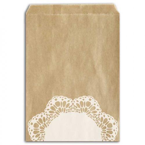 Sachets papier - Dentelle - 13 x 18 cm - 12 pcs