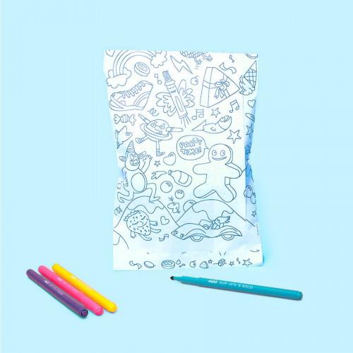 Pochettes à colorier - 8 pcs