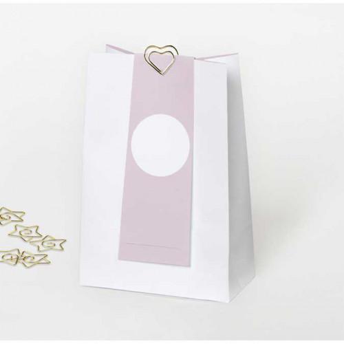 NIO rose - 6 sachets en papier - 11,5 x 17 x 0,6 cm
