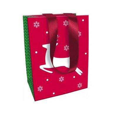 Sac moyen Noël Tradi Chic - Renne - 19 x 25 x 12 cm