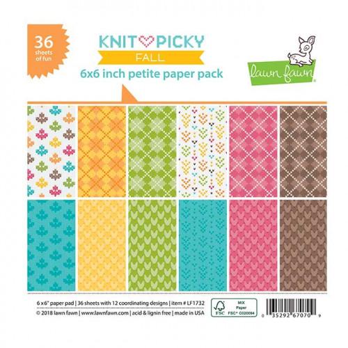 Bloc de papiers 15 x 15 cm Knit & Picky Fall