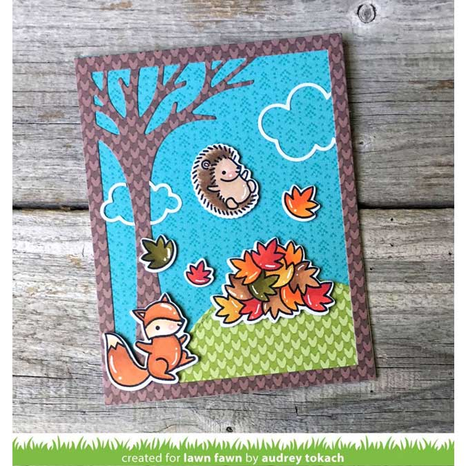 Bloc de papiers 15 x 15 cm Knit & Picky Fall