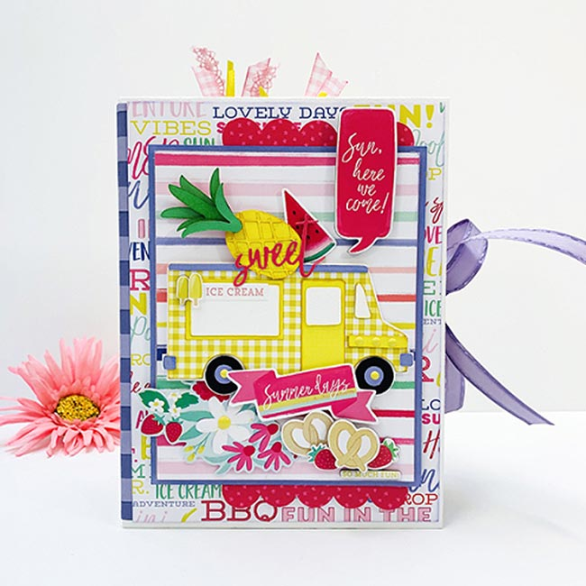 Best Summer Ever Bloc de papiers 15 x 15 cm