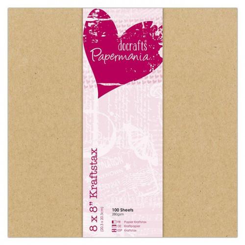 Kraftstax - Papier kraft - 20 x 20 cm - 280 g/m² - 100 feuilles