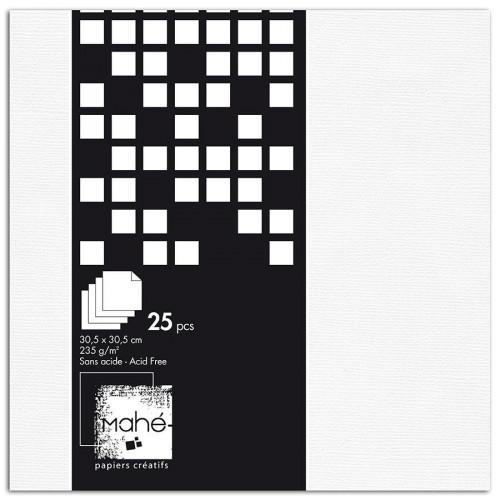 Papiers créatifs - blanc - Bloc de 25 feuilles
