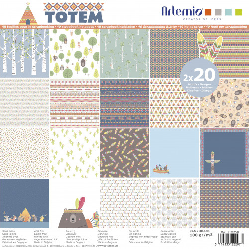 Totem - Papiers assortis