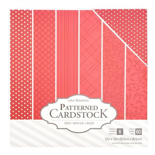 Core'dinations - Cardstock à motifs - rouge - 60 feuilles