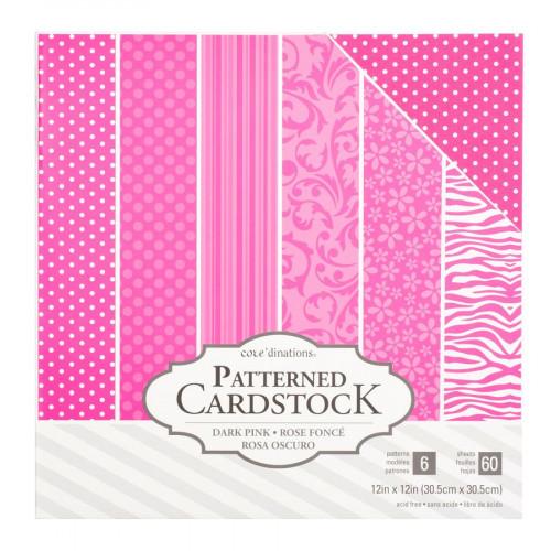 Core'dinations - Cardstock à motifs - rose foncé - 60 feuilles