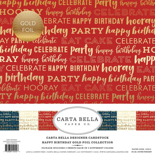 Kit de collection Happy Birthday Gold Foil